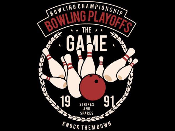 Bowling Playoffs Tshirt Design buy t shirt design