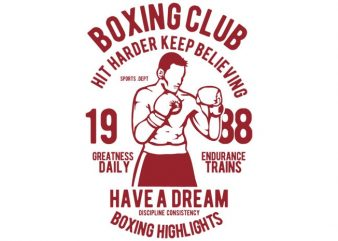 Boxing Club Tshirt Design