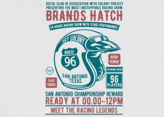 Brands Hatch Racing Tshirt Design