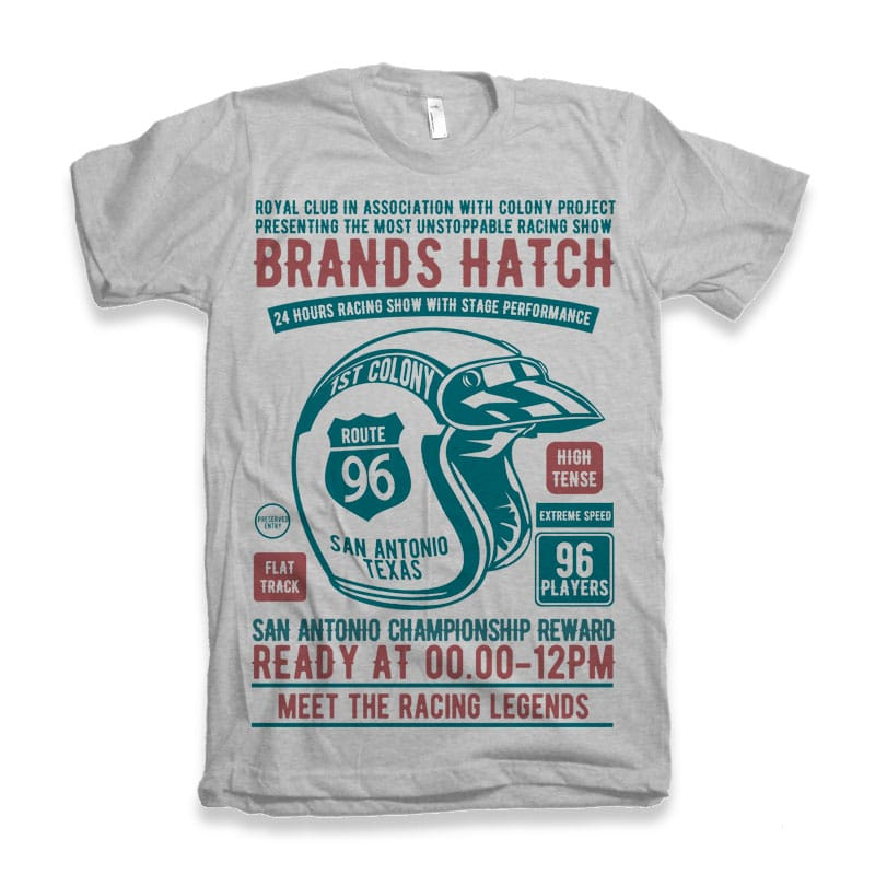 Brands Hatch Racing Tshirt Design buy t shirt design