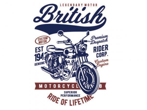 British Motorcycle t shirt template