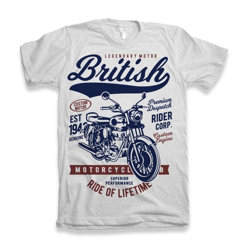 British Motorcycle buy t shirt design