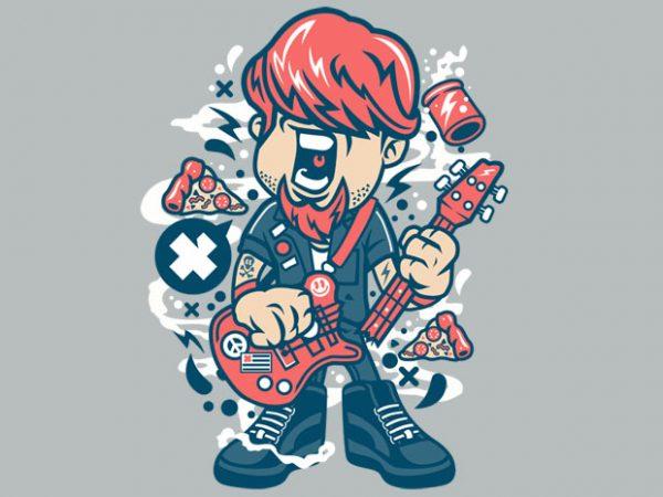 Broken Guitar buy t shirt design