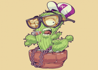 Cactus with Glasses tshirt design buy t shirt design