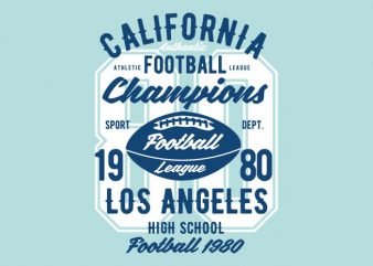 California Football League Tshirt Design