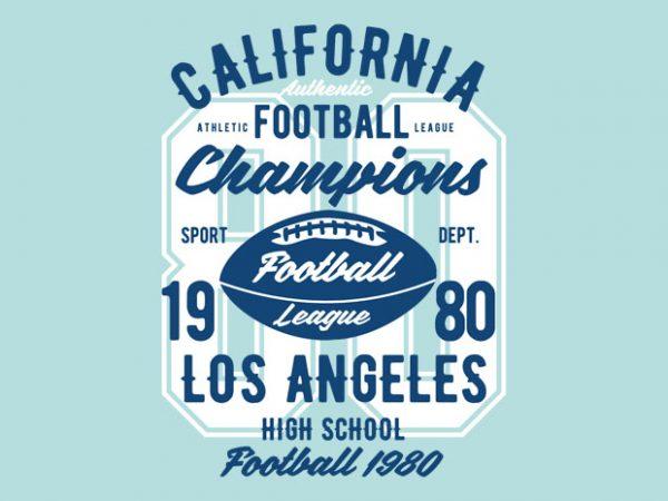 California Football League Tshirt Design buy t shirt design