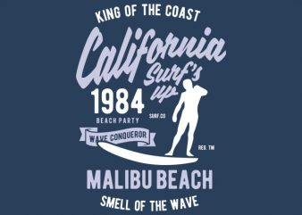 California Surfs Up Tshirt Design buy t shirt design