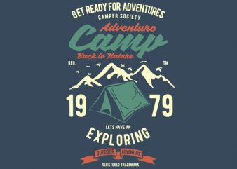Camp Adventure Tshirt design buy t shirt design