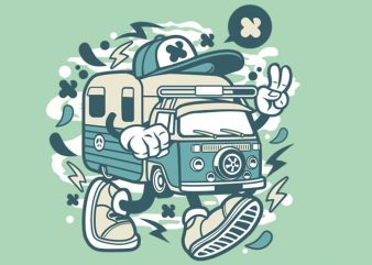 Camper Van t shirt vector file