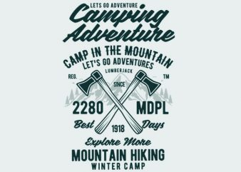 Camping Adventure Tshirt Design