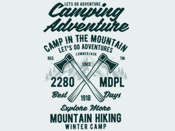 Camping Adventure BTD 600x450 - Camping Adventure Tshirt Design buy t shirt design