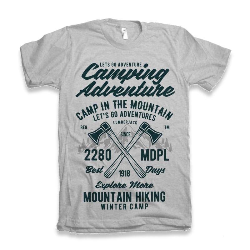 Camping Adventure Tshirt Design buy t shirt design