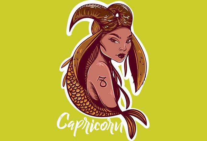 Capricorn buy t shirt design