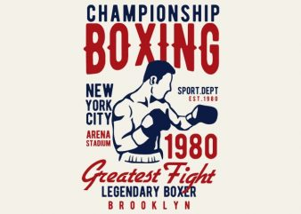 Championship Boxing tshirt design buy t shirt design