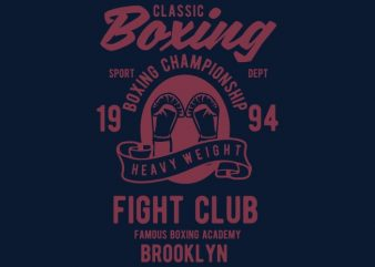 Classic Boxing T-shirt design