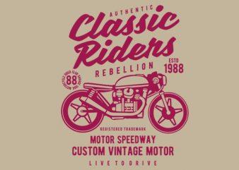 Classic Riders tshirt design