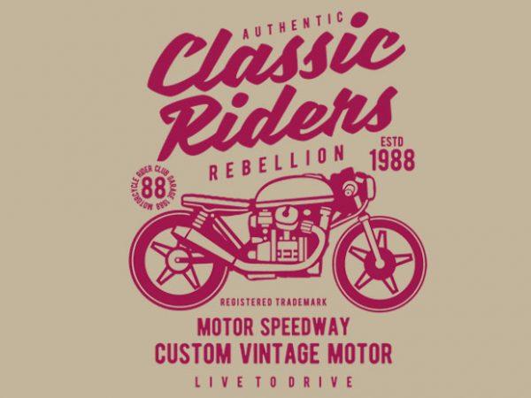 Classic Riders tshirt design buy t shirt design