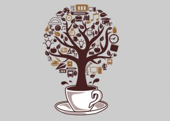 Coffee Tree t shirt vector file
