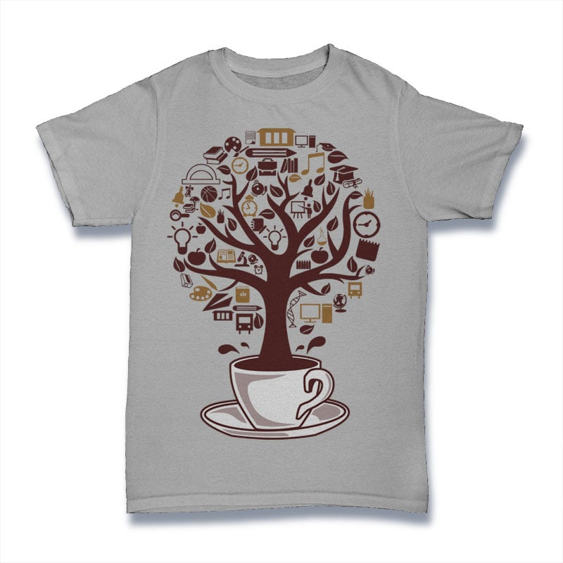 Coffee Tree buy t shirt design