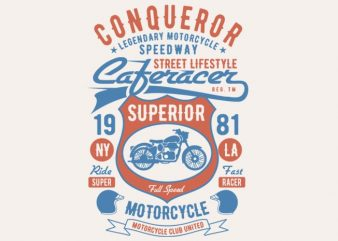Conqueror Speedway Tshirt design buy t shirt design