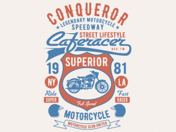 Conqueror Speedway Tshirt design