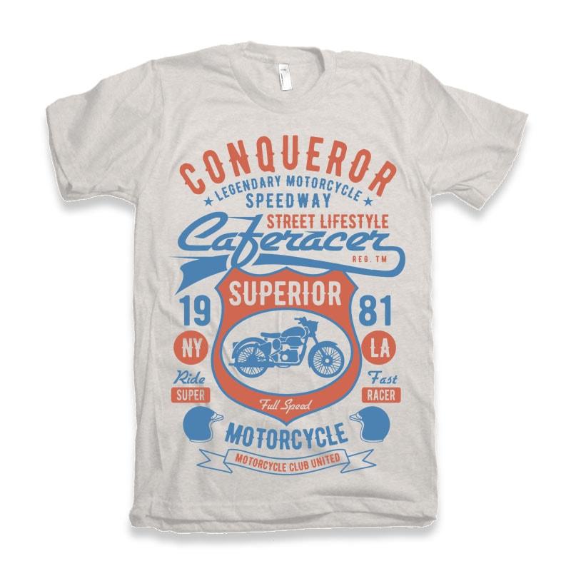 Conqueror Speedway Tshirt design buy t shirt design
