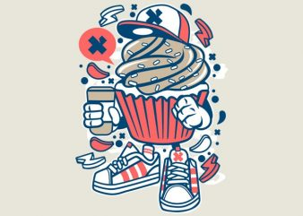 Cupcake t shirt vector file