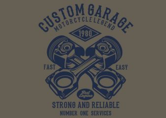 Custom Garage Tshirt design buy t shirt design