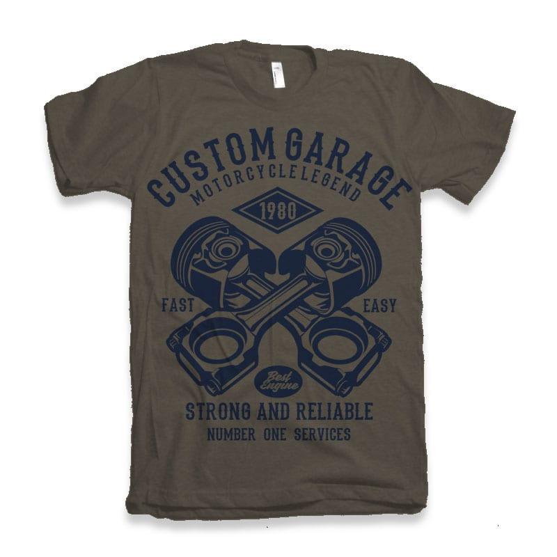 Custom Garage Tshirt design buy t shirt design