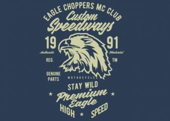 Custom Speedways Premium Eagle buy t shirt design