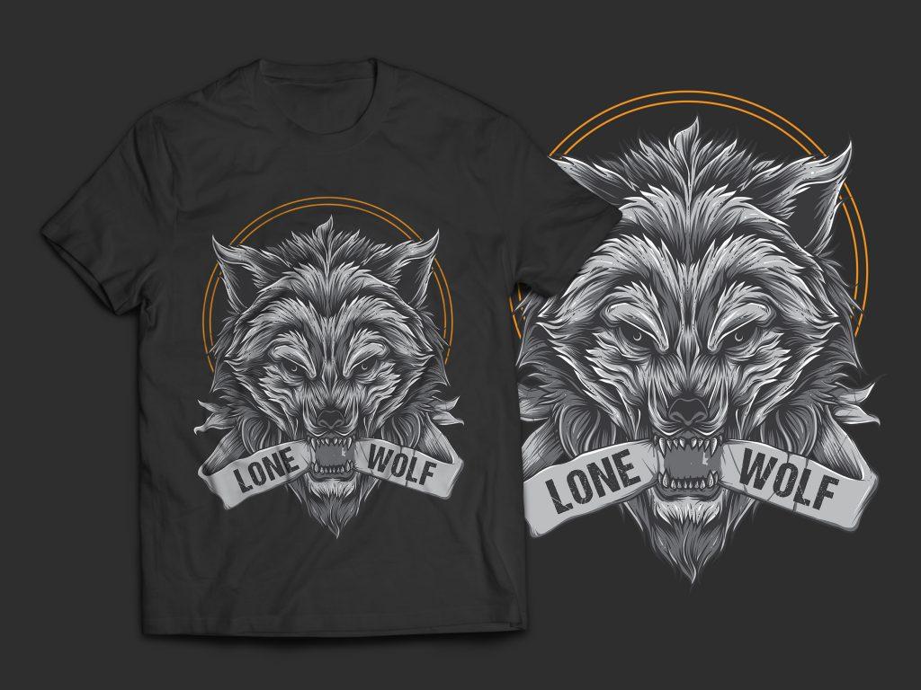 fcc327087 Lone Wolf T-Shirt Design- Best T-shirt Design
