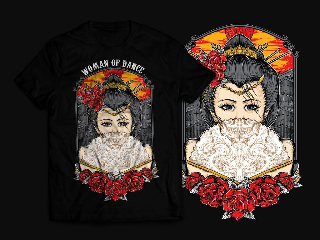 Geisha T-Shirt Design buy t shirt design