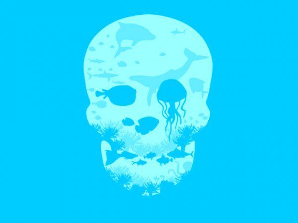 Dead Sea t shirt vector illustration