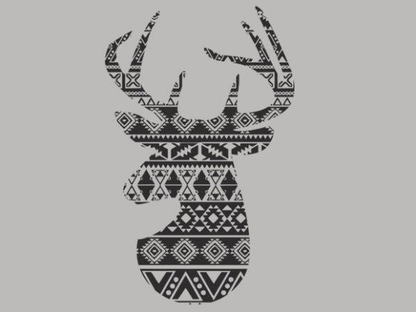 Deer 1 t shirt vector illustration