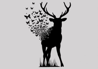 Deer Butterfly buy t shirt design