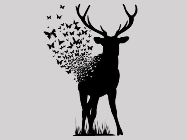 Deer Butterfly buy t shirt design