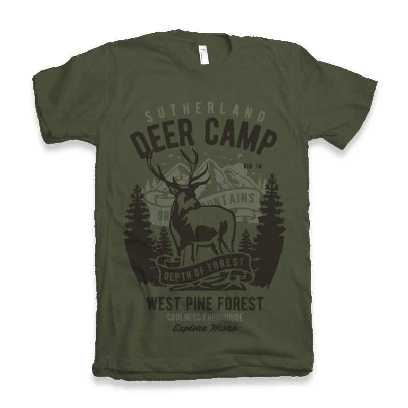 Deer Camp vector t shirt design buy t shirt design
