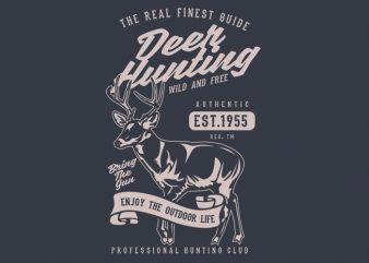 Deer Hunting buy t shirt design