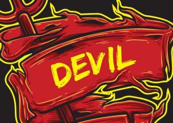 Devil Inside t shirt vector illustration
