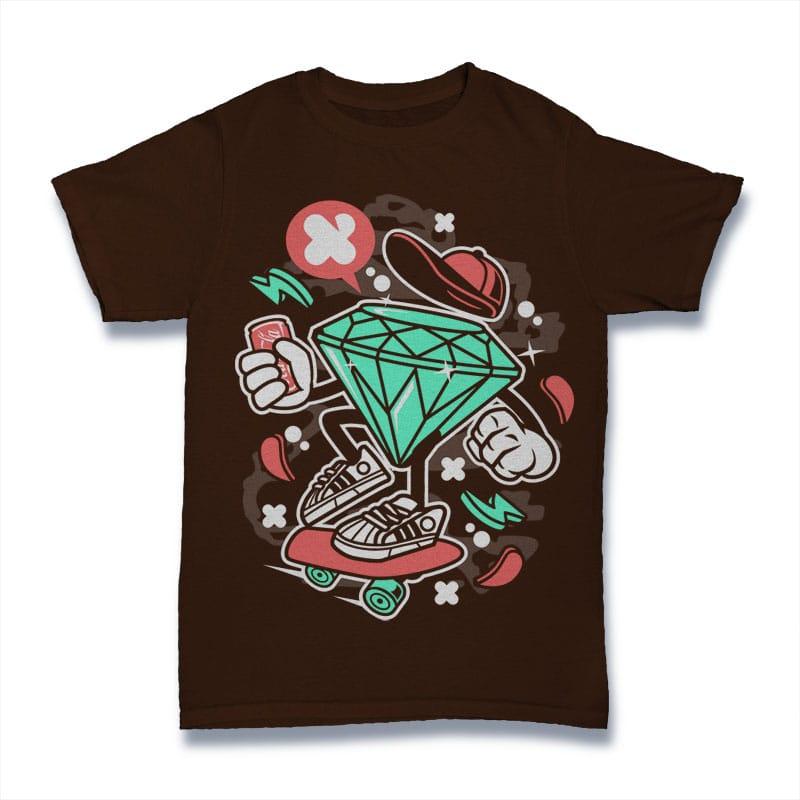 Diamond Skater buy t shirt design