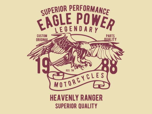 Eagle Power vector tshirt design buy t shirt design