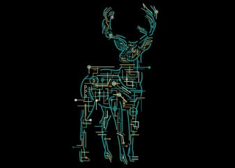 Electric Deer buy t shirt design