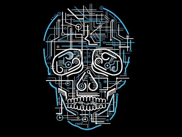 Electric Skull vector clipart
