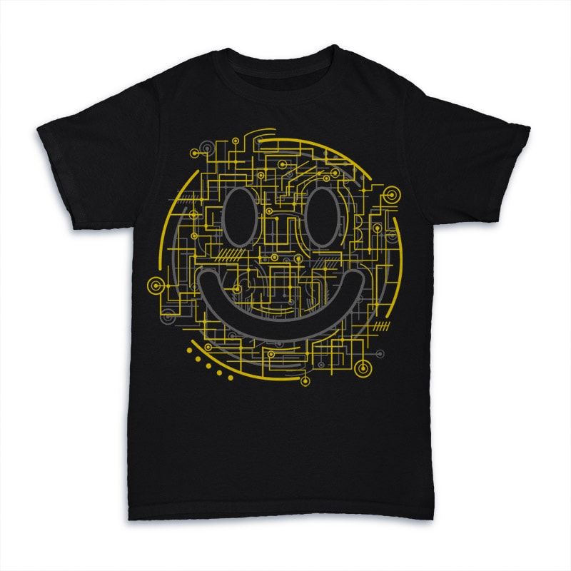 Electric Smiley buy t shirt design