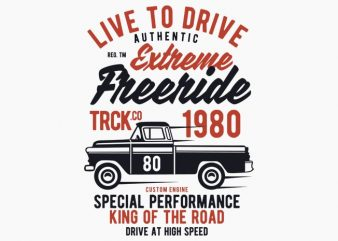 Extreme Freeride Truck t-shirt design buy t shirt design