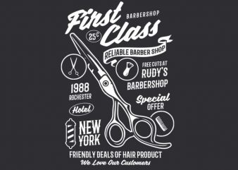 First Class Barber buy t shirt design