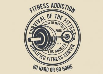 Fitness Addiction tshirt design