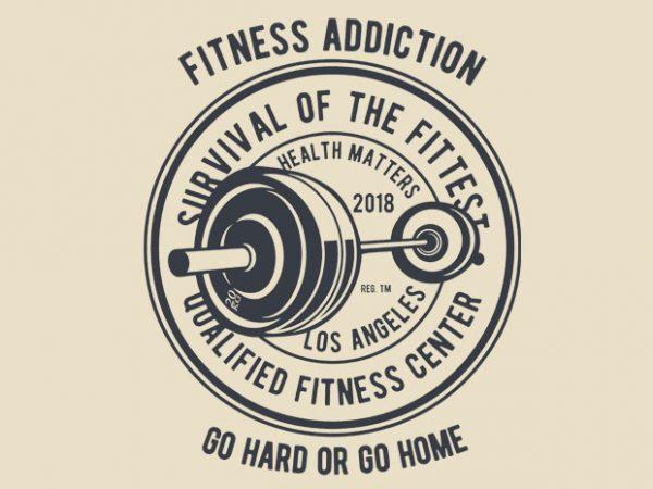 Fitness Addiction BTD 600x450 - Fitness Addiction tshirt design buy t shirt design