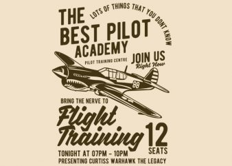 Flight Training t-shirt design