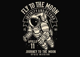 Fly To The Moon t-shirt design